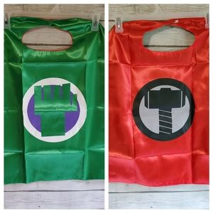 The Hulk/Thor Double Sided Cape and Felt Masks